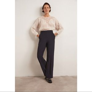 GERARD DAREL High Waisted Navy Trousers | 40